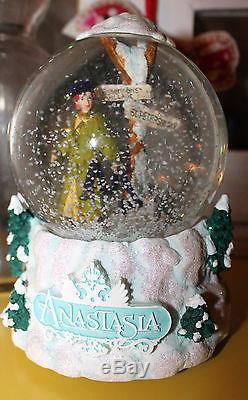 RARE Disney ANASTASIA San Francisco Music Box Co Snow Globe Water Snowglobe MINT