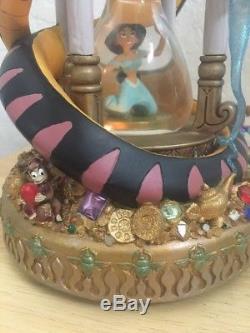 RARE Disney Aladdin MANIPULATION Musical Hourglass Lights Up Snowglobe
