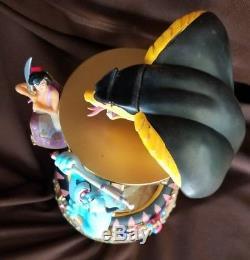 RARE Disney Aladdin MANIPULATION Musical Lit Hourglass Snowglobe Genie Jasmine