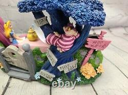 RARE Disney Alice in Wonderland Musical Light-up Snow Globe Tea Party