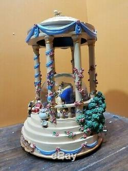 RARE! Disney Beauty And The Beast Belle Wedding Gazebo Music Water Snow Globe