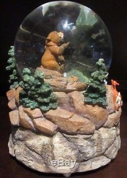 RARE Disney Brother Bear Kenai Koda Snowglobe Music Box