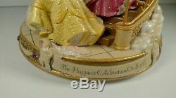 RARE Disney Cinderella Princesses Musical Snow Globe Retired Collectable 1990's