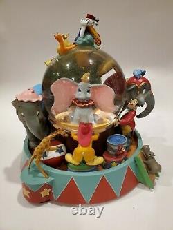 RARE Disney Dumbo Animated Musical Snow Globe Entry of the Gladiators WORKS