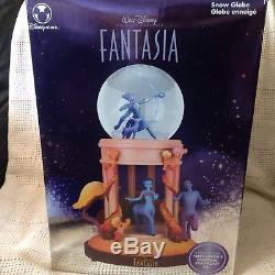 RARE Disney FANTASIA GODDESS Figurines Lite Up Musical SnowGlobe-MIB