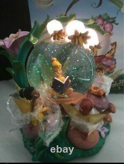 RARE Disney Fairies Snow globe Musical with Lights