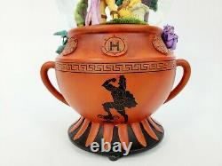RARE Disney Hercules Amphora Oversized, Musical Snowglobe (See Description)