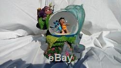 RARE Disney Lilo and Stitch Surfing Dr. Jumba Pleakley Snow Globe Music Box