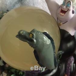 RARE Disney Little Mermaid Ursula Snowglobe MUSICAL Plays Poor Unfortunate Souls
