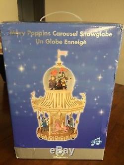 RARE Disney Mary Poppins CAROUSEL Figurines Musical Snowglobe Jolly Holiday