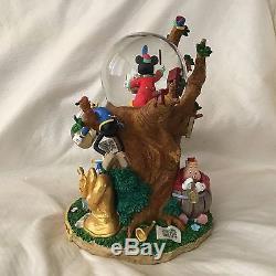 RARE Disney Mickey Donald THE BAND CONCERT 1935 Musical Blower SnowGlobe-MIB/HTF