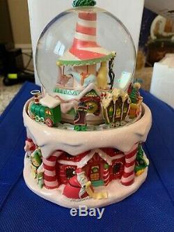 RARE Disney Nightmare Before Christmas Snow Globe with Music & Moving Train