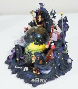 RARE Disney Parks VILLAINS Light Up Musical Snow Globe. Maleficent Captain Hook