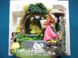 RARE Disney Princess Garden Tea Party Musical Snowglobe NEW IN ORIG. PACKAGING