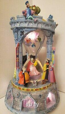 RARE Disney Sleeping Beauty Aurora Hourglass Snowglobe Music & Lights & Dances