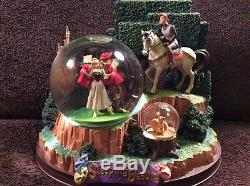 RARE Disney Sleeping Beauty ONCE UPON A DREAM Musical Spin Fig SnowGlobe