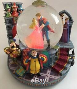 RARE Disney Sleeping Beauty Once Upon The Dream Musical Princess Snow Globe #336