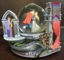 RARE Disney Sleeping Beauty Prince Philip Fairies Snowglobe Music Box Figure