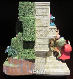 RARE Disney Sleeping Beauty Storybook Double Sided Fairies Snowglobe Music box