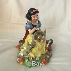 RARE Disney Snow White IM WISHING Musical Figurine SnowGlobe-MIB