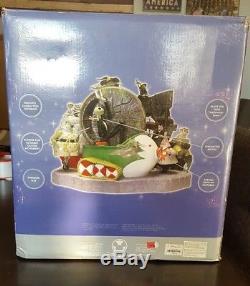 RARE Disney Store Nightmare Before Christmas Large Musical Snow Globe With Box22