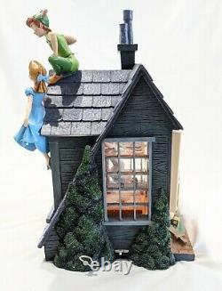 RARE Disney Store PETER PAN You Can Fly! Music Snow Globe Darling House Window