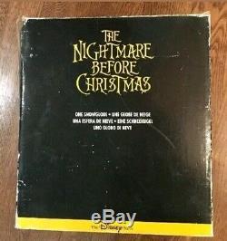 RARE Disney Tim Burton's Nightmare Before Christmas Snow Globe Musical Light-Up