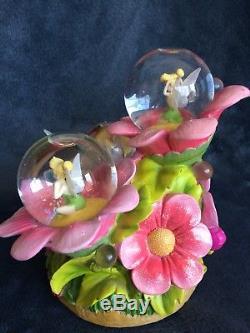 RARE Disney TinkerBell MOODY BLOOM Musical Multi Figurines Snow Globe Music Box