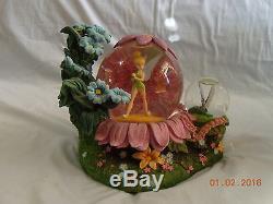 RARE Disney Tinker Bell SPRING GARDEN Musical Snowglobe (MIB)
