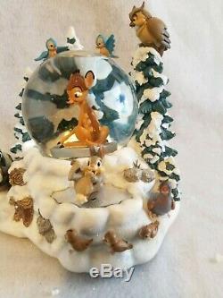 RARE Disney Winter Bambi Musical Snowglobe