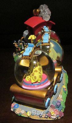 RARE Disney World Animal Kingdom Dumbo Circus Train Snowglobe Music Box Statue
