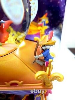 RARE Disney's Exclusive 35th Anniversary Robin Hood Musical Snow Globe With Box