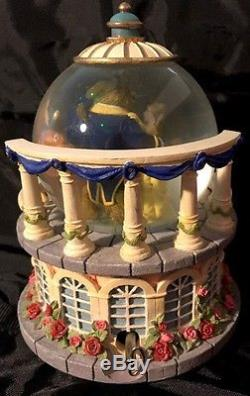 RARE VTG 1991 DISNEY Beauty and the Beast Musical Snow Globe (Retired)