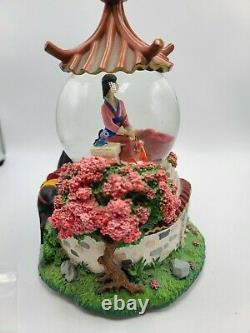 READ! Disney Mulan Reflections musical Snow Globe