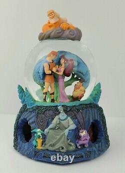 RETIRED Disney Hercules Musical Snow Globe Megara Zeus Hades Rotating Base RARE
