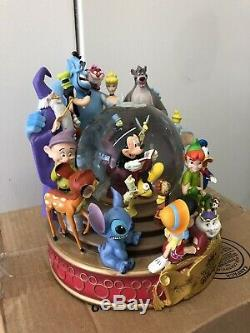 RETIRED Wonderful World of Disney When U Wish Upon A Star Musical Snowglobe