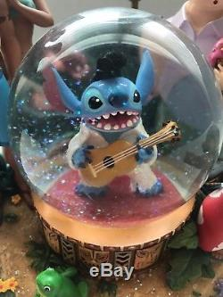 RareLILO AND STITCH Stich as Elvis Music Snow Globe Aloha Oe DISNEY