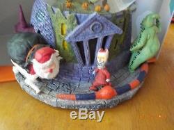 Rare 1st Disney Nightmare Before Christmas Snowglobe Light Up Musical Halloween