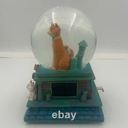 Rare Aristocats Disney Snow Globe With Music Box And Lights Up