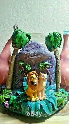 Rare Authentic Disney Lion King Musical Snow Globe Plays Upendi Collectible