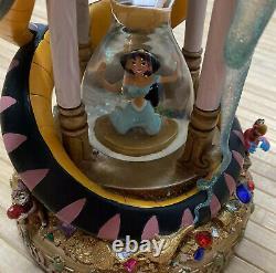 Rare Disney Aladdin Hourglass Musical Snow Globe Arabian Nights with Original Tag