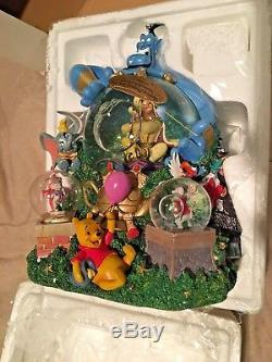 Rare Disney Aladdin Music Snow Globe Dream Come True Parade New