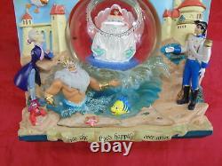 Rare Disney Ariel Little Mermaid Book Under The Sea Snowglobe Double Sided Music