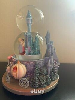Rare Disney Cinderella Double Snow Globe Wedding Castle (NO MUSIC BOX)