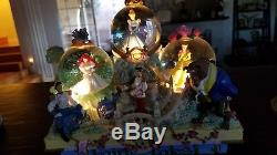Rare! Disney Light Up Musical Snowglobe Couples-Ariel, Belle, Cinderella