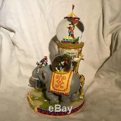 Rare Disney Mickey Donald MICKEY CIRCUS Musical Multi Figurines SnowGlobes-MIB