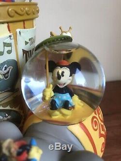 Rare Disney Mickey Mouse Big Top Circus 13 Multi Snowglobe Music Box Figurine
