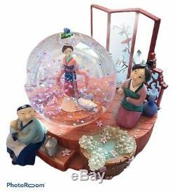Rare Disney Mulan Musical Snow Globe
