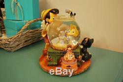 Rare Disney Pinocchio Toyland by Victor Herbert Musical Snow Globe Music Box