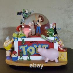 Rare Disney Pixar Toy Story Andy's Toy Box Light & Musical Snowglobe Buzz Woody
